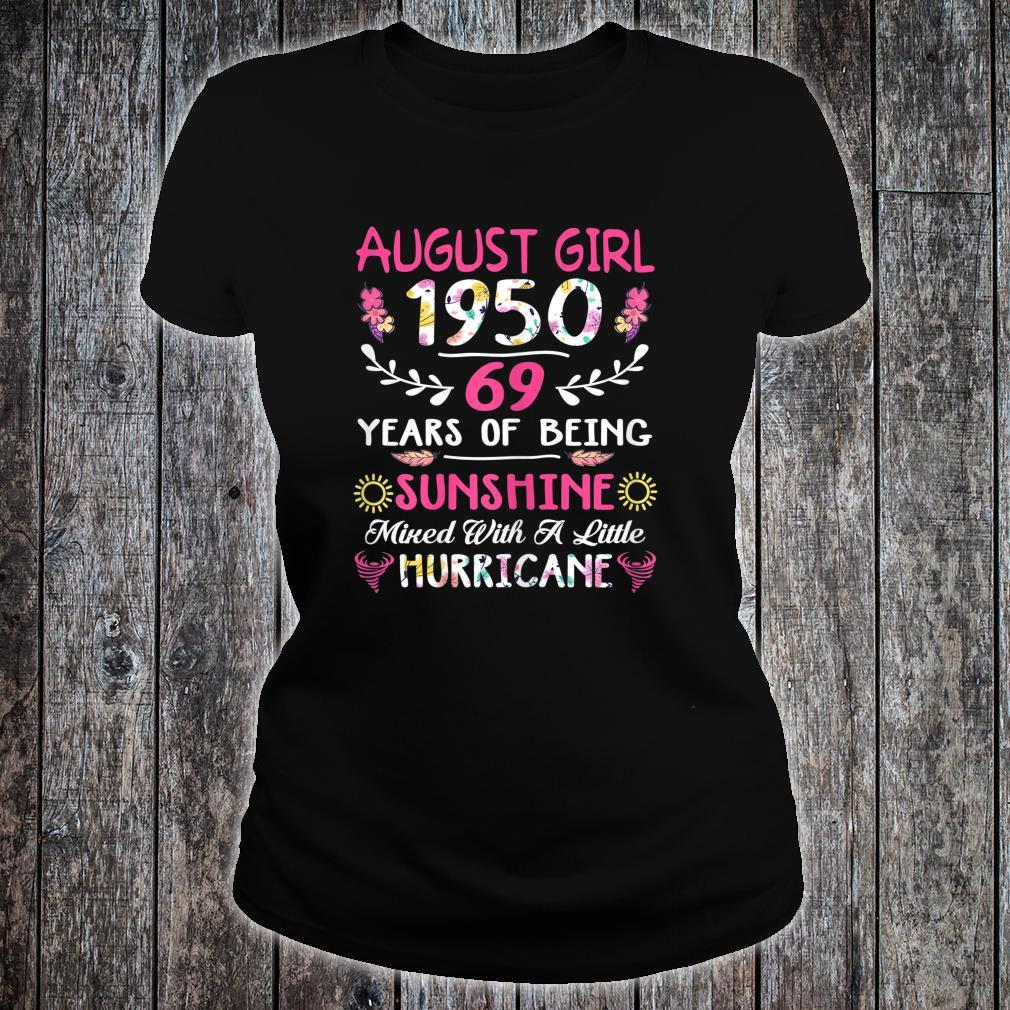 August 1950 69th Birthday Floral Shirt For Shirt ladies tee