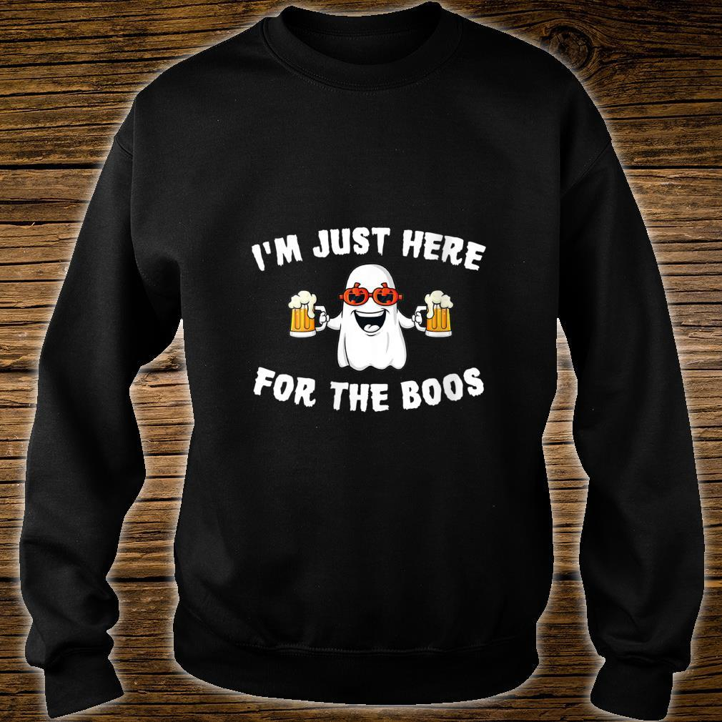 Halloween cute ghost I'm just here for the boos Shirt sweater