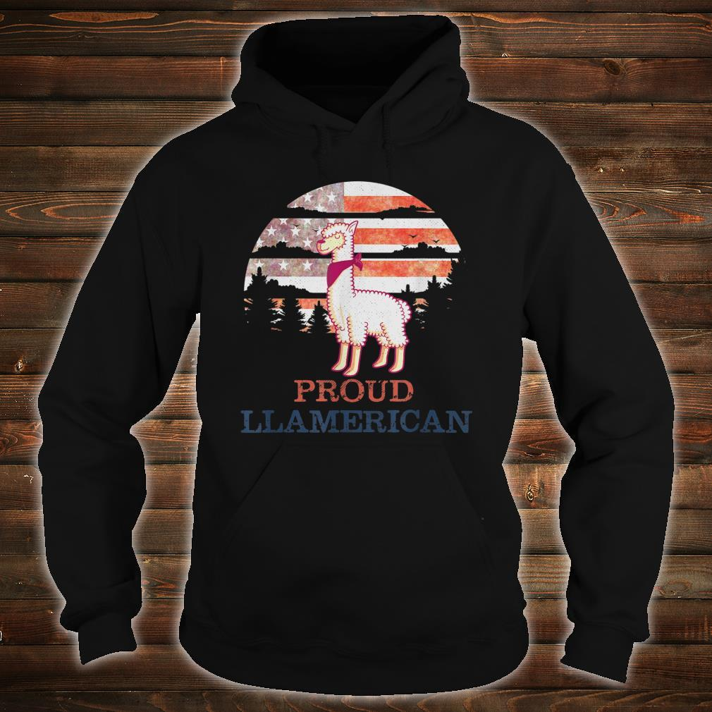 Llama 4th of July Independence Day Proud Llamerican Shirt hoodie