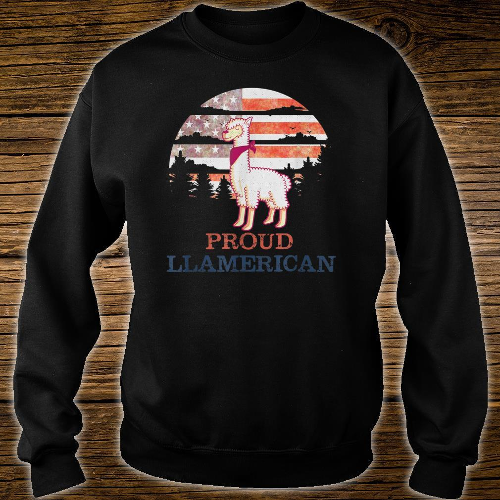 Llama 4th of July Independence Day Proud Llamerican Shirt sweater