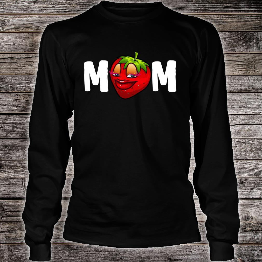 Mother's Day Strawberries Design Mom Strawberry Shirt long sleeved
