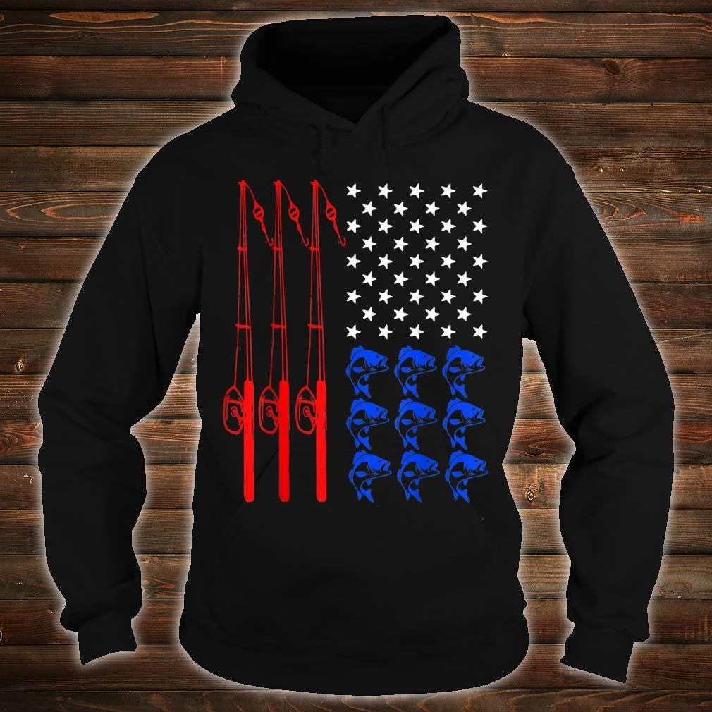 Pride American Flag Fishing Independence Day July 4th Shirt hoodie
