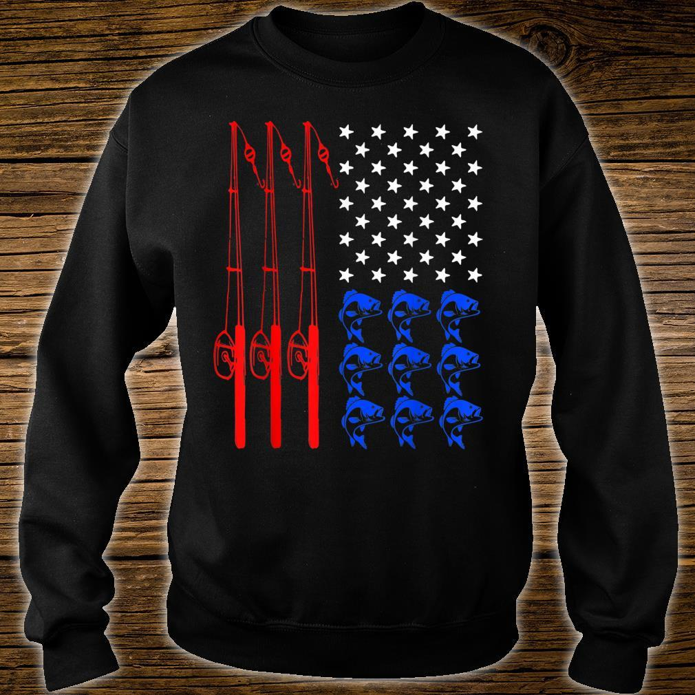 Pride American Flag Fishing Independence Day July 4th Shirt sweater