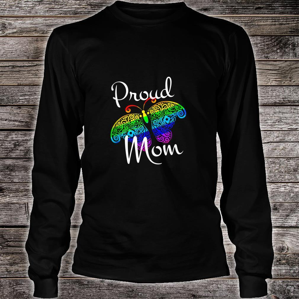 Proud Mom Mother's Day or All Occasions LGBT Pride Shirt long sleeved