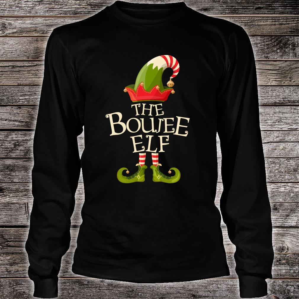 The Boujee Elf Matching Family Group Christmas Party Pajama Shirt long sleeved