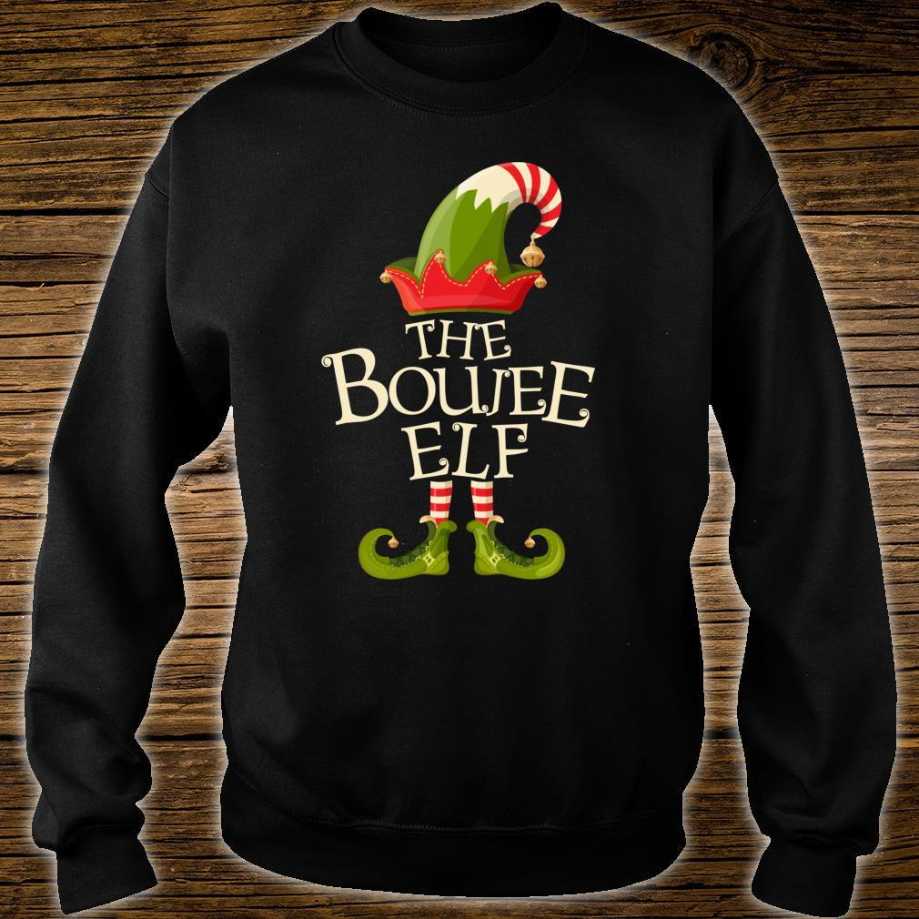 The Boujee Elf Matching Family Group Christmas Party Pajama Shirt sweater