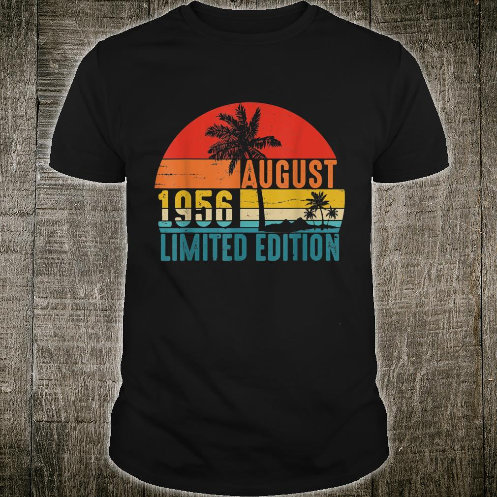 Vintage August 1956 Limited Edition shirt 63rd Birthday Shirt