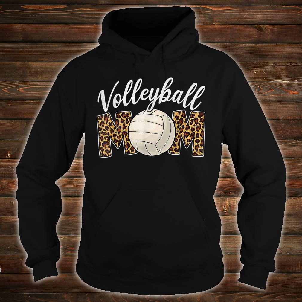 Volleyball Mom Leopard Sport Ball Mom Mother's Day Shirt hoodie