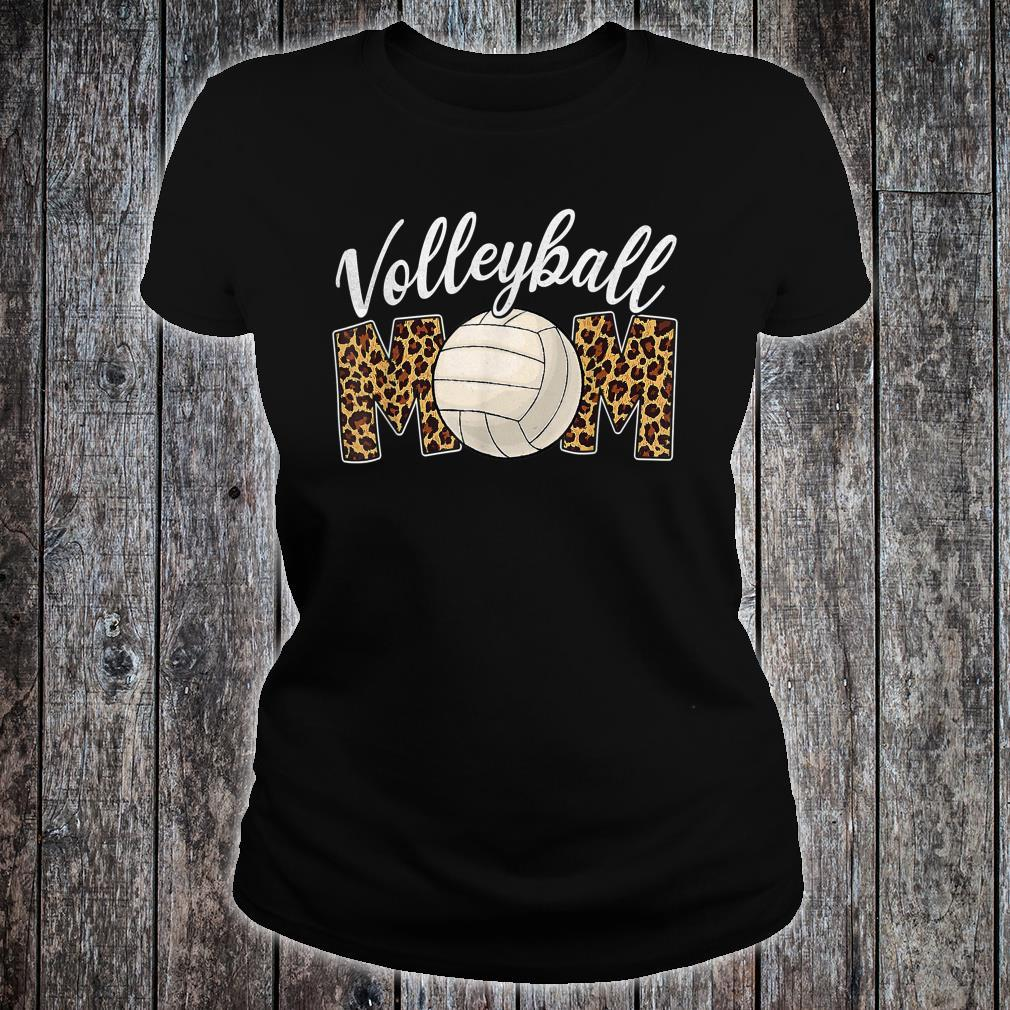 Volleyball Mom Leopard Sport Ball Mom Mother's Day Shirt ladies tee