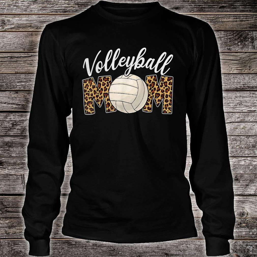 Volleyball Mom Leopard Sport Ball Mom Mother's Day Shirt long sleeved