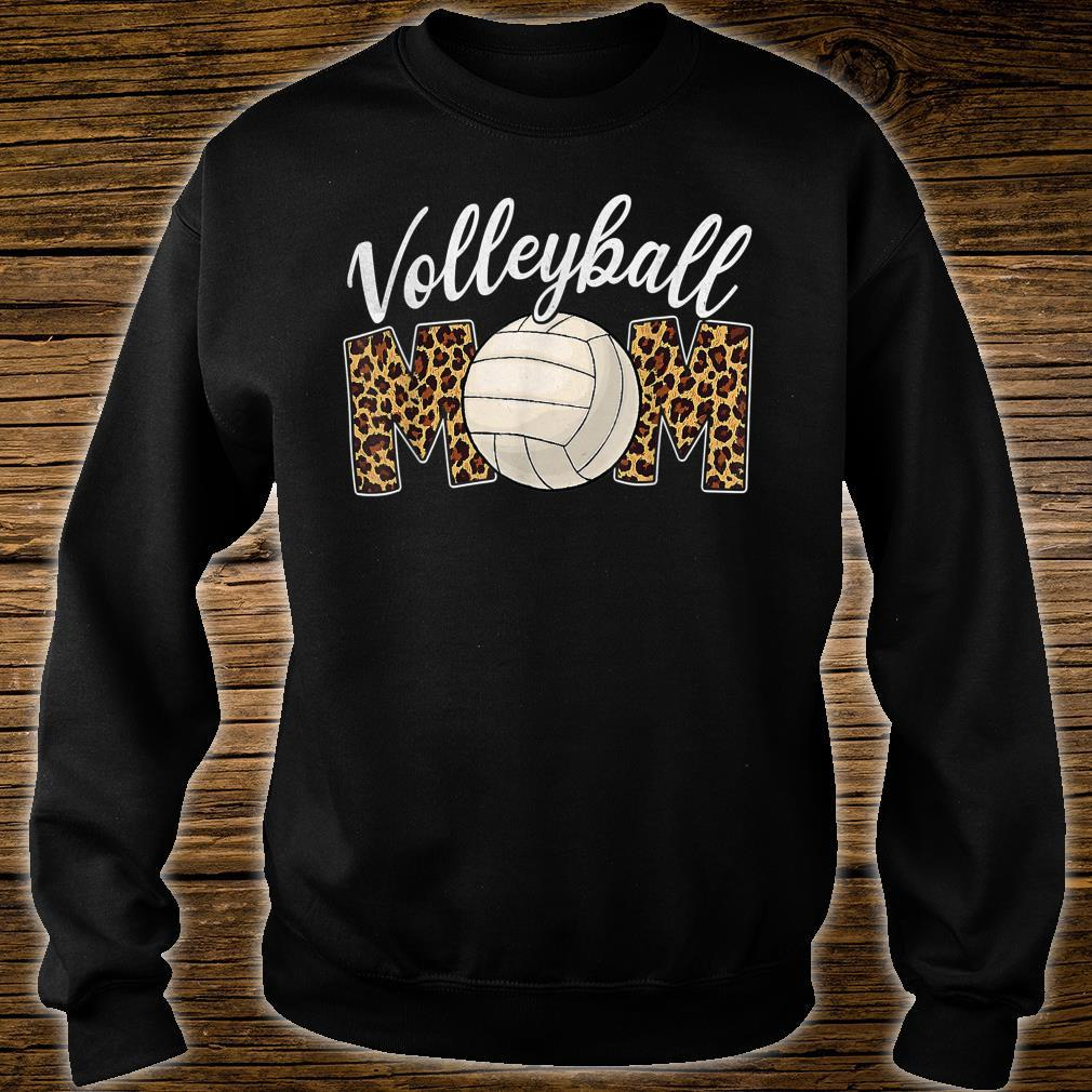 Volleyball Mom Leopard Sport Ball Mom Mother's Day Shirt sweater