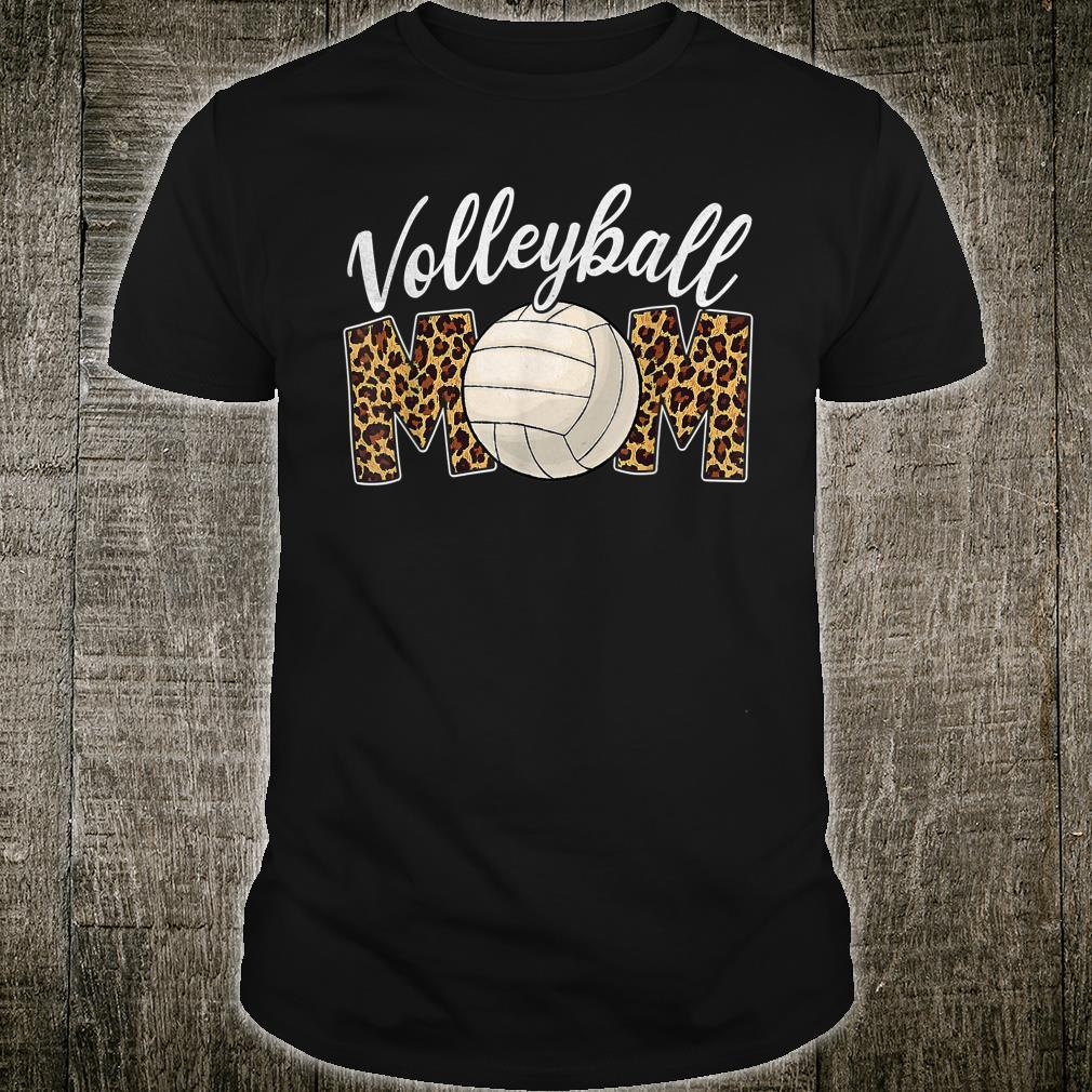 Volleyball Mom Leopard Sport Ball Mom Mother's Day Shirt
